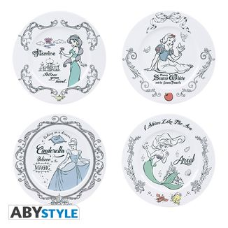 Disney Princesses Plates Set of 4
