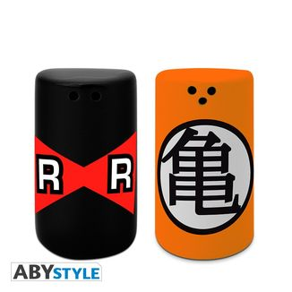 Kame Kanji & Red Ribbon Salt & Pepper Shakers Dragon Ball