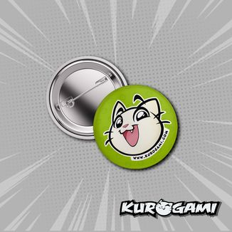 Kuroneko Face Badge Kurogami