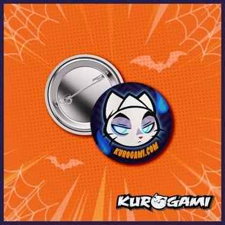 Kuroneko Ghost Halloween 2020 Badge Kurogami