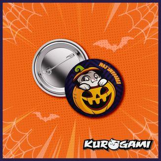 Kuroneko Pumpkin Halloween 2020 Badge Kurogami