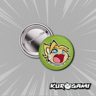 Kuroneko Super Warrior Badge Kurogami