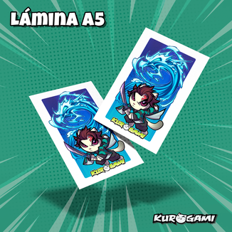 Kuroneko Kuro Cazador de demonios Poster A5 Kurogami