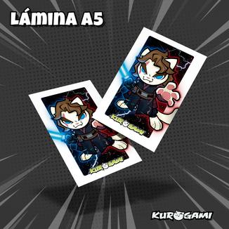 Lamina A5 Kuroneko Miau-Walker Lado Oscuro Kurogami
