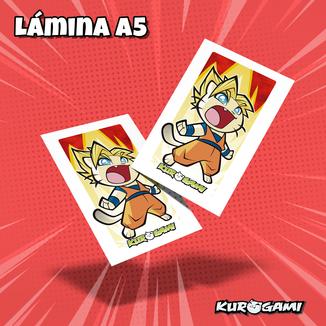 Kuroneko Super Warrior Poster A5 Kurogami