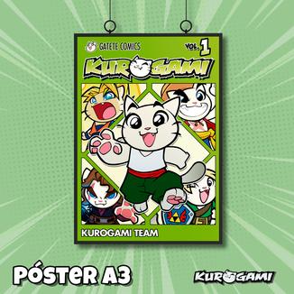 Poster A3 Kuroneko Manga Kurogami
