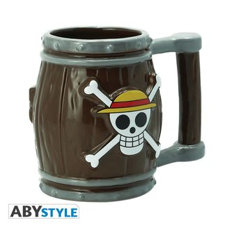 Taza 3D Barril Skull Luffy One Piece
