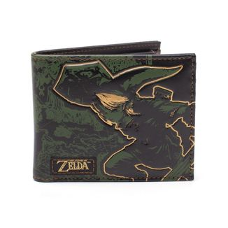 Link and Hyrule Map Wallet The Legend of Zelda