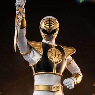 Figura White Ranger Mighty Morphin Power Rangers FigZero