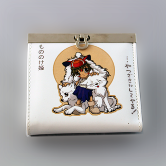 Princess Mononoke Kodamas White Wallet