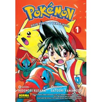 Pokemon Rojo Fuego y Verde Hoja #01 Manga Oficial Norma Editorial