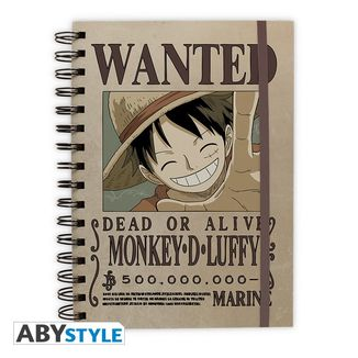 Libreta Luffy Wanted One Piece