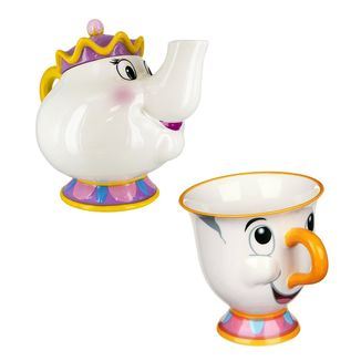 Chip mug and Mrs. Potts teapot Beauty and the Beast Pack