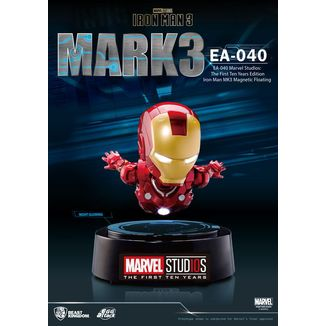 Figura con Luz Iron Man Mark III The First Ten Years Edition Marvel Comics Egg Attack