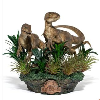 Just The Two Raptors Statue Jurassic Park Deluxe Art Scale