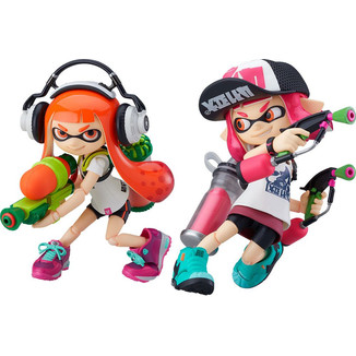 Splatoon Girl Figma 400-DX Splatoon 1 & 2 Set