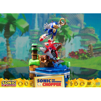 Estatua Sonic vs Chopper Sonic Generations