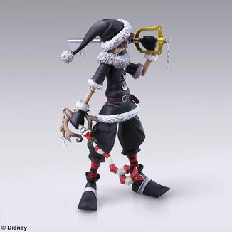 Sora Christmas Town Figure Kingdom Hearts II Play Arts Kai