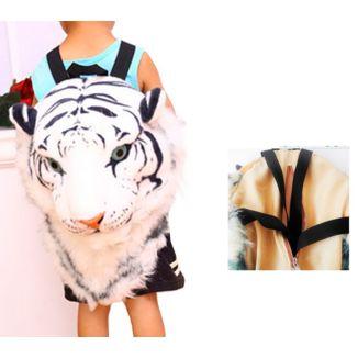 Mochila Cabeza Tigre Blanco