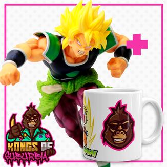 Pack Figure Broly SSJ Figure Dragon Ball Super Z-Battle + Mug Kongs of Suburbia