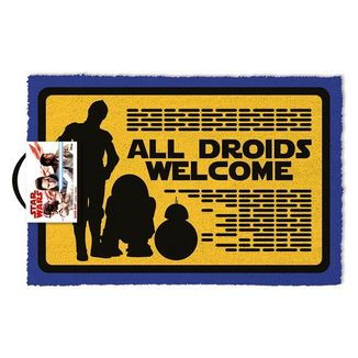 All Droids Welcome Doormat Star Wars