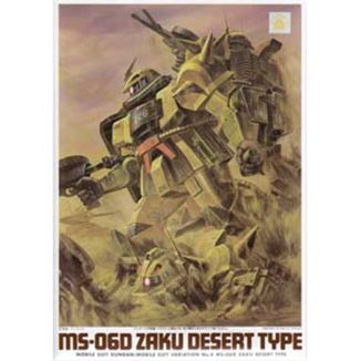 Model Kit MS-06D Zaku Desert Type Mobile Suit Gundam