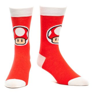 Socks Red Mushroom Super Mario Nintendo