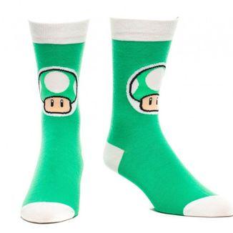 Socks Green Mushroom Super Mario Nintendo