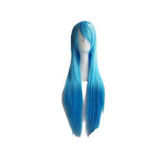 Peluca Azul Cielo 80 cms