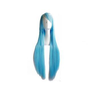 Peluca Azul Hielo 80 cms