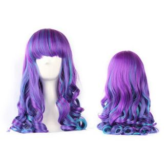 Purple & Blue Curly Wig
