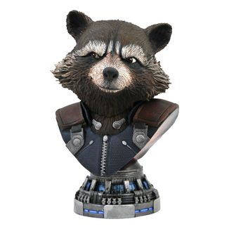 Busto Rocket Raccoon Vengadores Endgame Legends in 3D