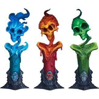 The Lighter Side of Darkness Faction Candle Bust Court of the Dead Set