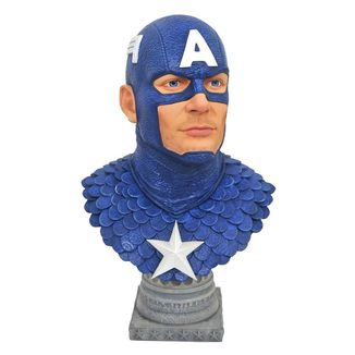 Busto Captain America Marvel Comics Legends in 3D