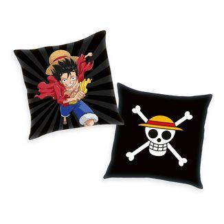 Monkey D. Luffy and Skull Cushion One Piece 40 x 40 cms