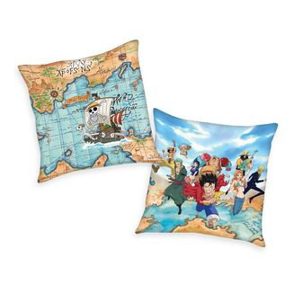 Characters and Map Cushion One Piece 40 x 40 cms