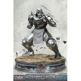 Estatua Alphonse Elric Silver Variant Fullmetal Alchemist Brotherhood