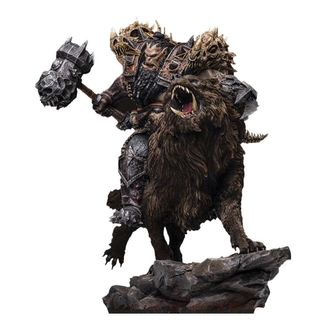 Blackhand Riding Wolf Standard Version Statue Warcraft The Beginning