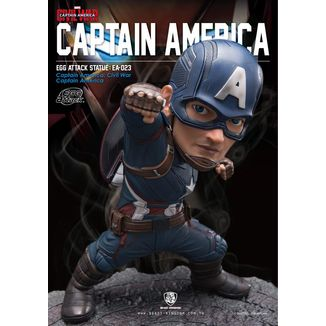 Captain America Statue Civil War Marvel Egg Attack
