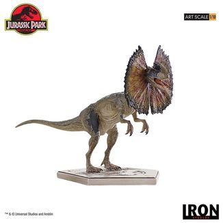 Estatua Dilophosaurus Parque Jurasico Art Scale