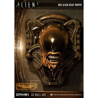 Estatua Dog Alien Closed Mouth Alien 3 3D Decoration Wall