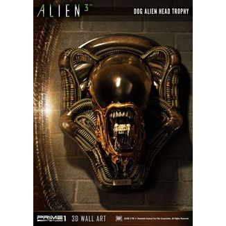 Dog Alien Open Mouth Statue Alien 3 3D Decoration Wall