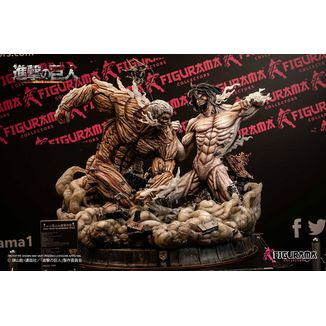 Eren vs Armored Titan Statue Attack on Titan Elite Exclusive