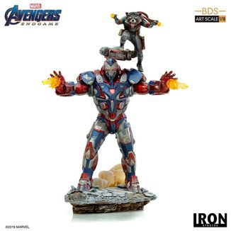 Estatua Iron Patriot & Rocket Vengadores Endgame BDS Art