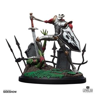 Estatua Sir Dan Fortesque MediEvil