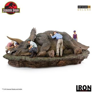 Triceratops Statue Jurassic Park Deluxe Art Scale