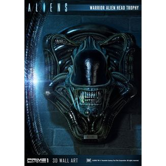 Estatua Warrior Alien Head Trophy Aliens 3D Wall Decoration