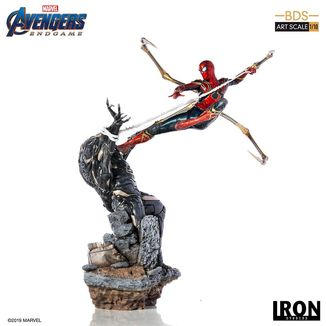 Estatua Iron Spider vs Outrider Vengadores Endgame BDS Art Scale