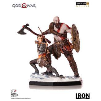 Estatua Kratos & Atreus God of War Deluxe Art Scale