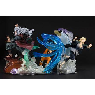 Tsunade & Naruto & Jiraiya Figuarts Zero Naruto Shippuden Kizuna Relation Set